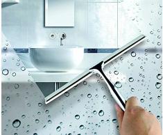 Soloda doccia finestre lavavetri, spazzola in acciaio INOX, lavavetri per porta del bagno e auto specchio tergicristallo, finestra in vetro pulizia con super ventosa gancio