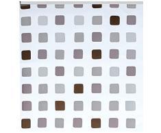 Kleine Wolke 3321110747 - Tenda da doccia a pannello per binario Kleine Wolke, 128 x 240 cm, motivo quadretti, colore grigio