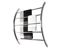 bremermann® porta asciugamani per montaggio a parete con 5 barre in metallo cromato