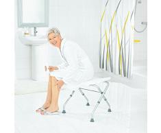 Ridder A0050301 - Sgabello pieghevole da bagno, colore: Bianco