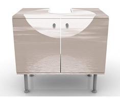 Mobile per lavabo design Sunrise 60x55x35cm, basso, Larghezza: 60cm, regolabile, mobiletto da lavandino, lavandino, mobiletto da lavabo, lavabo, mobiletto, bagno, bagnetto, mobile da bagno