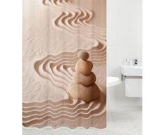 Tenda da doccia | grande scelta di belle tende da doccia di alta qualità | 12 anelli inclusi | impermeabile | effetto anti-muffa (180 x 200 cm, Zen)