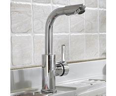 CNBBGJ Lusso singolo foro rubinetto rame lavabo rubinetto bagno rubinetti lavanderia armadietto sotto i rubinetti caldi e freddi