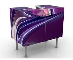 Mobile per lavabo design Circles In Purple 60x55x35cm, basso, Larghezza: 60cm, regolabile, mobiletto da lavandino, lavandino, mobiletto da lavabo, lavabo, mobiletto, bagno, bagnetto, mobile da bagno
