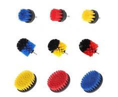 RanDal Kit Combinato 3Pcs Giallo/Rosso/Blu Per La Pulizia Della Spazzola Per La Pulizia Della Vasca Del Detergente Per Piastrelle Kit Di Lavaggio Per Lavaocchi - Giallo