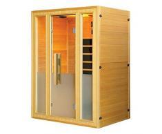 Bagno Italia Sauna infrarossi 3 posti cm 142x107 con connessione usb radio cromoterapia