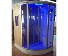 Bagno Italia Cabina idromassaggio 170x130 cm box doccia multifunzione con bagno turco e sauna finlandese