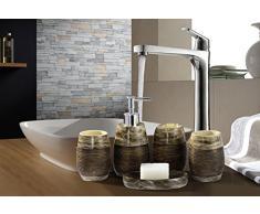 Set Da Bagno Moderno : Kit accessori per bagno color marrone da acquistare online su livingo