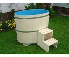 Sauna immersioni Vasca in PEFC zertifizierten legno di abete rosso, interno rivestito in blu