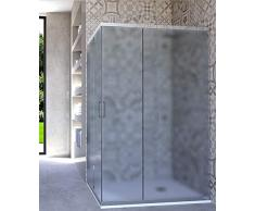 HYDRA Box Doccia angolare Porta Scorrevole 80x120 cm Opaco