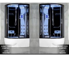 Cabina Idromassaggio multifunzione con Vasca da 120x85 reversibile con Sauna Bagno Turco