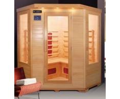 Sauna Infrarossi da 150x65x120cm 4 posti radio ionizzatore e cromoterapia inclusi