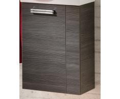 Armadietto sotto lavabo per bagno degli ospiti, colore (davanti): pino antracite, colore (corpo): pino antracite