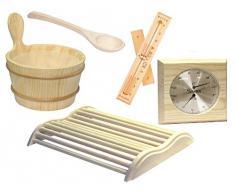 Accessori per sauna, set in cinque parti
