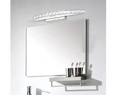 DELLT- Moderna Moda semplice in acciaio inox Bagno principale dello specchio della luce anteriore bagno lampada da parete degli specchi della lampada si illumina Camera di trucco ( colore : Luce bianca-54 cm )