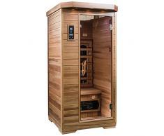 SaunaMed, sauna a infrarossi FAR, lussuosa, in cedro per 1 persona, con tecnologia EMR, NeutralTM