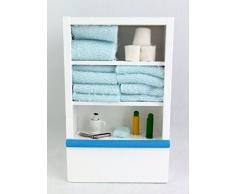 Dolls House Mobile da Bagno e Accessori Blu