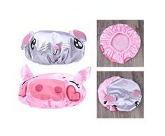 iSuperb iSuperb Cuffia da Doccia Impermeabile Cuffia da Bagno per Donna per bambini Animale Shower Caps (cartone animato)