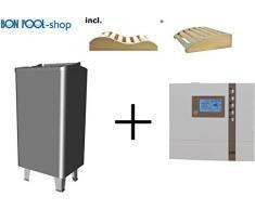 Sauna forno Thermo Tec S 6 kW con ECON D2 Sauna sanguigna finlandese EOS fiscale e 2 cunei testa BONPOOL