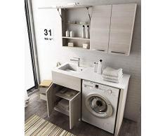 Mobile per lavatrice acquista mobili per lavatrice online su livingo - Mobile lavandino lavatrice ...