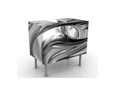 Mobile per lavabo design Illusionary II 60x55x35cm, basso, Larghezza: 60cm, regolabile, mobiletto da lavandino, lavandino, mobiletto da lavabo, lavabo, mobiletto, bagno, bagnetto, mobile da bagno
