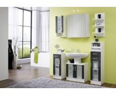 Posseik 5416 99 Nizza (Nizas) Mobiletto per lavabo colore: Bianco lucido/Antracite