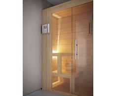 GRANDFORM sauna finlandese stufa elettrica 3 posti seduti, oppure 1 semisdraiato HOME 1812 ( cm. 180 x 120 x 208 H.)
