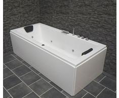 Whirlpool Vasca da bagno VENEZIA MADE IN GERMANY DESTRA O SINISTRA 150/160/170 x 75 cm con 6 ugelli per massaggio + con struttura TURNO DESTRO / Linke VASCA ANGOLARE