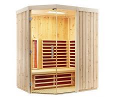 Infraworld Inserto In triosol unica2 Zirbe a infrarossi infrarossi cabina sauna calore cabina 390137, Breite 154 750.0 watts