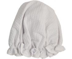 Vagabond Bags Ltd - Cuffia per doccia, motivo: nido d'ape, colore: bianco