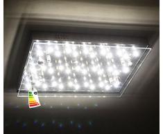Boomer-3 LED risparmio energetico vetro / inox plafoniera 18W soffitto luce lampada da parete illuminazione anche per la zona bagno A, bianco caldo