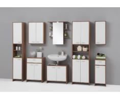 13Casa fresh b4 mobile sotto lavabo. dim. 64*33*56,5h cm. nobilitato. castagno/bianco.