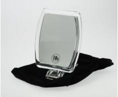 Fantasia - Specchio cosmetico ingranditore (10x), da viaggio, con borsa, in acrilico