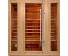 Sauna Infrarossi 175x120 porta a vetro con lettore CD Radio per 4 Persone
