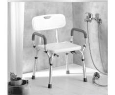 Sedile per doccia in alluminio regolabile in altezza AB-21