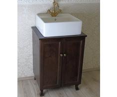 Mobile bagno piccolo in legno con lavabo ceramica 40 x 38 salva spazio