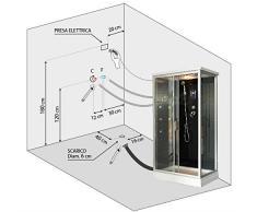Bagno Italia Cabina box idromassaggio 70x120 con piatto doccia multifunzione disponibile anche con sauna I