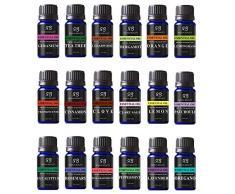 Olio essenziale di eucalipto e distillato a vapore per aromaterapia relax doccia sauna bagno bagno turco sollievo dal dolore congestione sollievo dallo stress Top 18 Set 016 Fl Oz (confezione da 18)