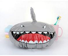Funny Kids Cuffia per la doccia Novità Cuffia per doccia a forma di squalo Impermeabile Cuffia per capelli elastica per capelli Protezione per capelli - Proteggi i capelli