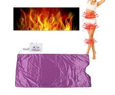Coperta di vapore a infrarossi digitale, sauna riscaldata Spa Body Shaper che dimagrisce strumento per personale anti età Alleviare Fatigu fisico, viola(EU-Stecker)