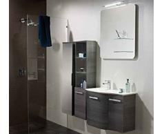 Pelipal Nito 3 pezzi Mobile da bagno Set/lavabo/armadietto/superficie specchio con ripiano in vetro