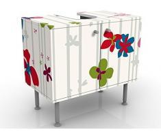 Mobile per lavabo design Floral Pattern 60x55x35cm, Größe:55cm x 60cm