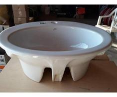 Lavabo da Incasso Vanitory 3 Fori Bianco 61,4x52,2 cm Europa Ideal Standard
