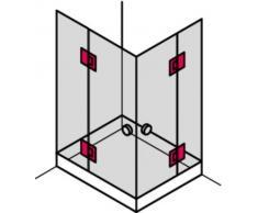Gedotec porta della doccia porta a vetri porta in vetro cerniera cerniera della porta hardware VITA-A per porte di vetro e docce con chiusura automatica | Per spessore del vetro 8 - 12 mm | Angolo di apertura 180° | Ottone cromato