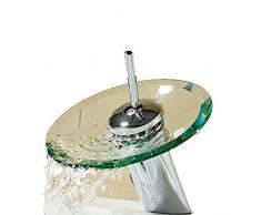 Rubinetti per lavandino del bagno Rubinetti per vasca Rubinetti per lavello della cucina Rubinetti per doccia Cascata in vetro Armadietto del bagno Rubinetto per lavabo in ottone