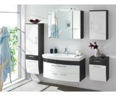 Posseik 5877 99 - Mobiletto sotto-lavabo bagno Rima, colore: Grigio antracite/Bianco