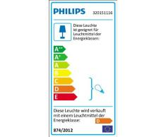 Philips Lighting Aloe Lampada Bagno Soffitto, 3 Cilindri, Vetro Satinato, IP44, Lampadina Inclusa