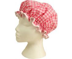 Vagabond Bags-Cuffia da doccia a quadretti, colore: rosa