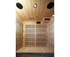 Designer cabina Sauna calore a infrarossi, con modello Carbon riscaldamento Andenes in nero