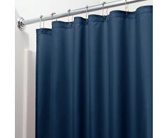 InterDesign 14632EU Tenda Doccia Anti-Muffa, Idrorepellente, Blu Navy, 180x180x0.25 cm